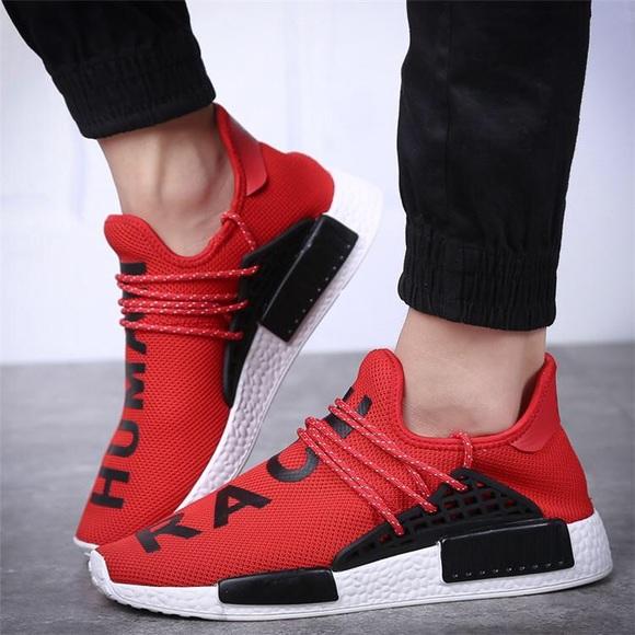 Shop \u003e human race nmd red and black
